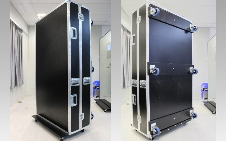 Flight Case to transport Magic Mirror 1