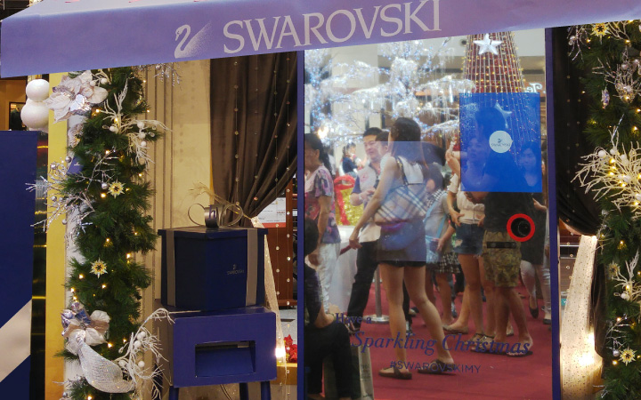 Magic Mirror at Swarovski festive event 1