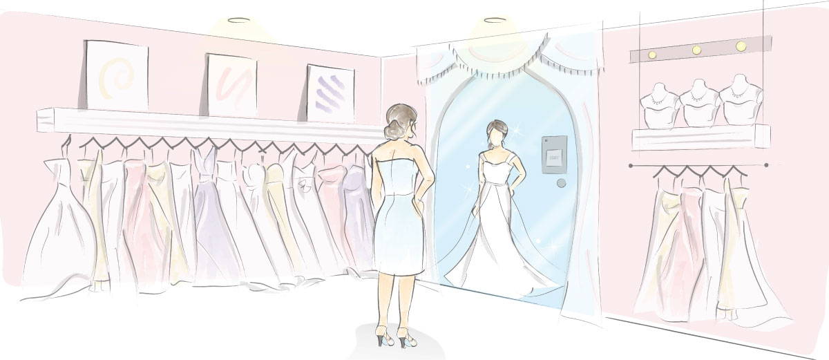 3d virtual gown fitting for wedding boutiques for Virtual wedding dress maker